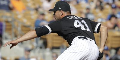Chicago White Sox relief pitcher Xavier Cedeno throws during the fourth inning of a spring training baseball game against the Los Angeles Dodgers, Friday, March 2, 2018, in Glendale, Ariz. (AP Photo/Carlos Osorio) ORG XMIT: otkco166